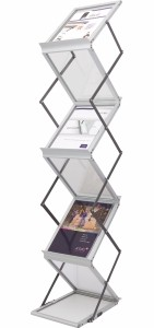 Brochure holder foldable esiteteline