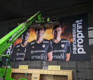 SJK OmaSPstadion banderolli